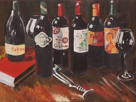 Bottles of Wine by Fran Steinmark