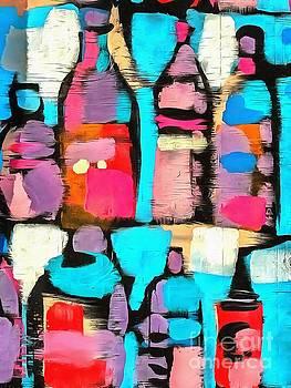 Bottles Pop Art by Edward Fielding