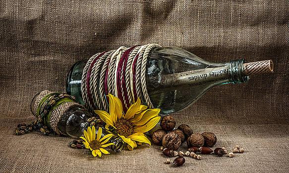 Bottles still life by Julian Popov