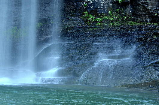 Bottom of the falls by Charles Bacon Jr