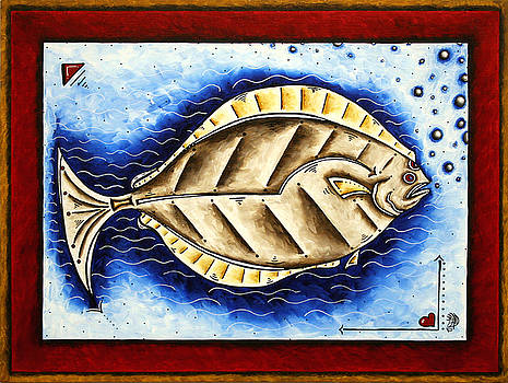BOTTOM OF THE SEA CREATURE Original MADART Painting by Megan Duncanson