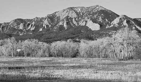 James BO  Insogna - Boulder Colorado Flatiron View From Jay Rd BW