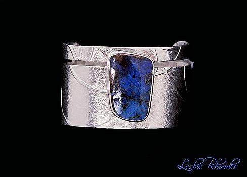 Boulder Opal Silver Ring by Leslie Rhoades