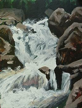 Boulder River Falls Plien Air by Mia DeLode