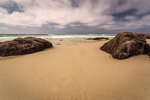 Boulders on the Beach by Rick Strobaugh