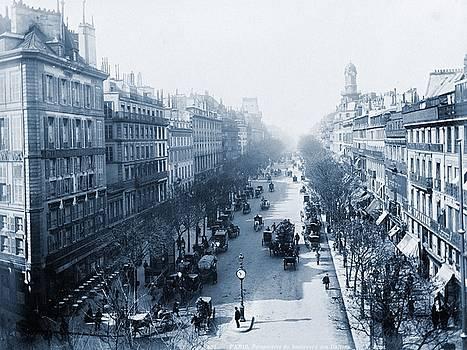 Boulevard des Italiens Paris, France, 1880-1900 by Vintage Printery