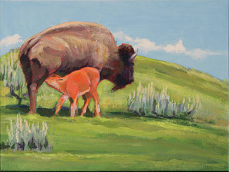 Bouncing Baby Bison by Pam Little