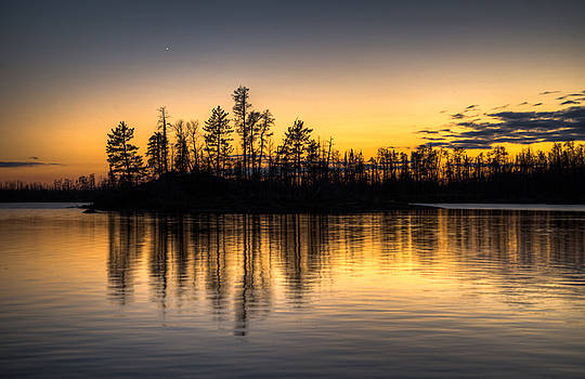 Boundary Water Sunset by Christopher Broste