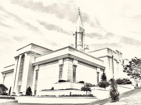 Bountiful Temple Sketch by Misty Alger