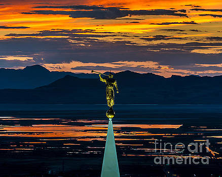 Bountiful Temple Sunset - Special Order by Gary Whitton