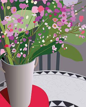 Bouquet on Bistro by Marian Federspiel