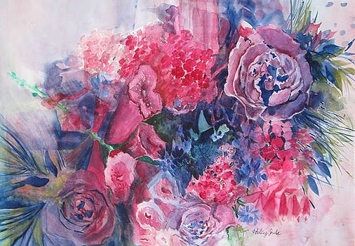 Bouquet Watercolor by Haley Jula