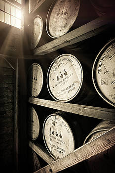 Bourbon Barrels by Window Light by Karen Varnas