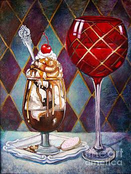 Bourbon Carmel Fudge Sundae  by Geraldine Arata