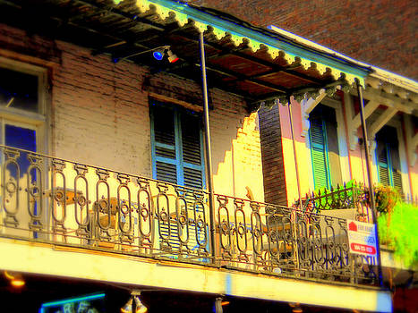 Bourbon St. Balcony by Ted Hebbler