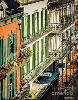 Kathleen K Parker - Bourbon Street Buildings Morning - New Orleans