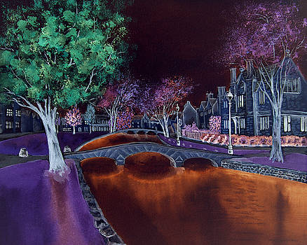 Bourton at Night II by Elizabeth Lock