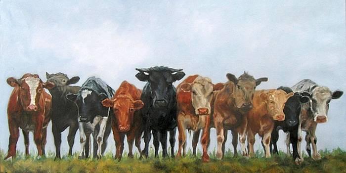 Bovine Chorus Line by Donna Ellery