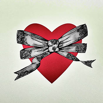 Bow and heart by Danielle Scannell