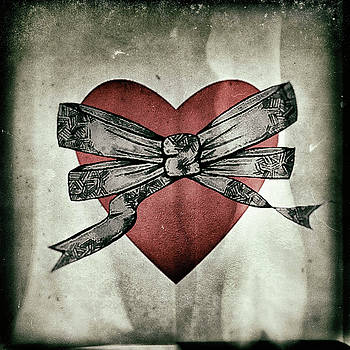 Bow and heart by Frances Lewis