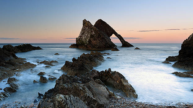 Bow Fiddle Rock at Sunset by Maria Gaellman