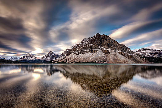 Bow Lake Dramatic reflection by Pierre Leclerc Photography