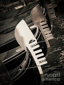 BERNARD JAUBERT - Bow of a gondola, vintage look, Venice, Italy, Europe