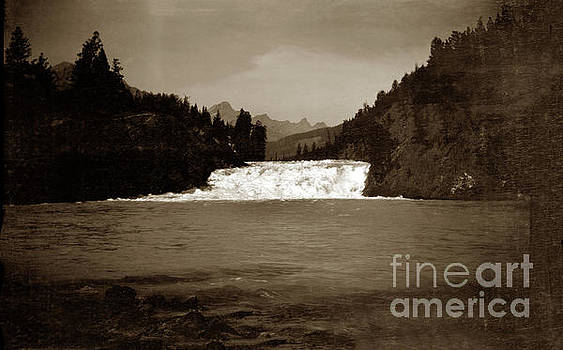 Bow river falls, Banff, Alberta, Canada August 1912 by California Views Mr Pat Hathaway Archives