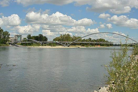 Bow River Walking Bridge by Nicki Bennett