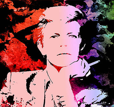 Bowie Alive in Color by Robert R Splashy Art Abstract Paintings