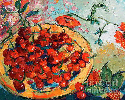 Ginette Callaway - Bowl of Cherries and Poppies