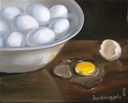 Bowl of eggs Minus one by Eleonora Mingazova