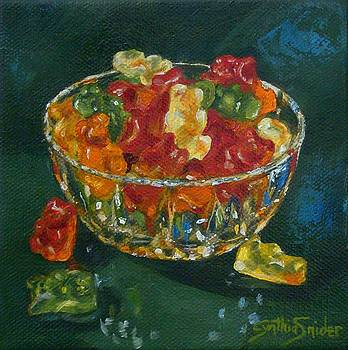 Bowl of Gummy Bears by Cynthia Snider