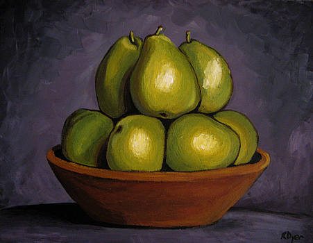 Bowl of Pears by Rachelle Dyer