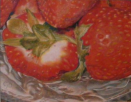 Bowl Of Strawberries by Crispin  Delgado