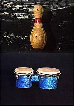 Bowling Pin Bongoes by Paul Knotter