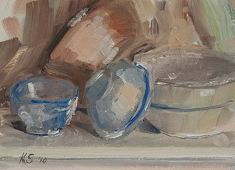 Bowls of Light Sketch by Katherine Seger
