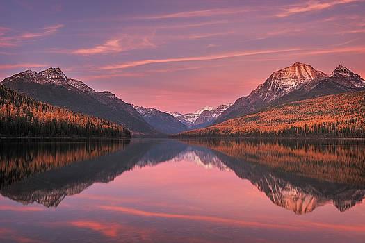 Bowman Lake Sunset by Scott Wheeler