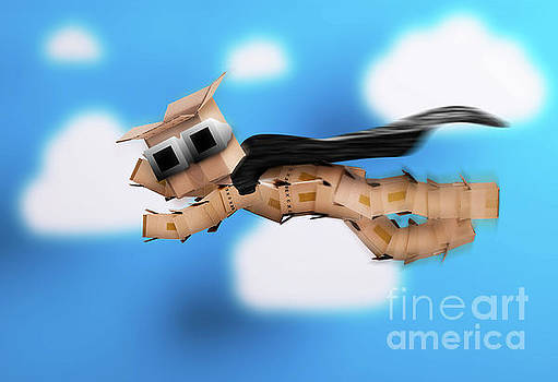 Boxman hero flying up in the clouds by Simon Bratt Photography LRPS
