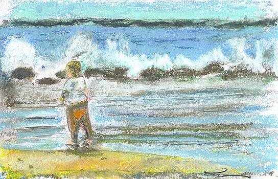 Boy And Breakers by Everett Kimball
