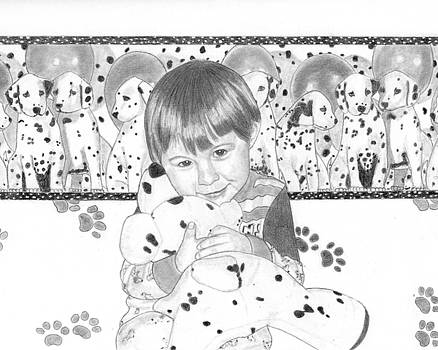 Boy and Dalmations by Nicole I Hamilton