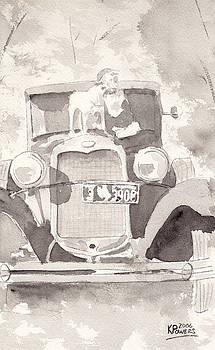 Ken Powers - Boy And His Dog On An Old Car