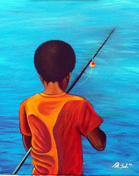 Boy Fishing by Peter Sparks