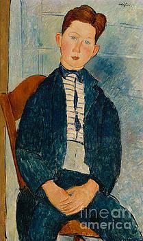 Amedeo Modigliani - Boy in a Striped Sweater, 1918