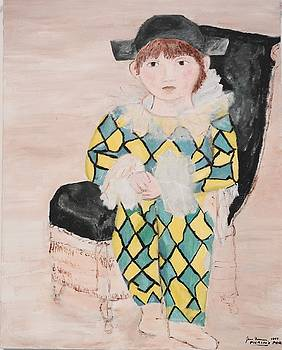 Boy in costume Picasso inspired by Jean Forman
