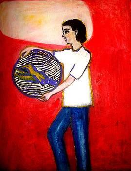 Boy In Infrared by Elena Buftea
