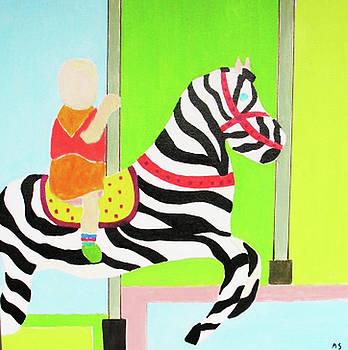 Boy On Carousel by Martin Silverstein