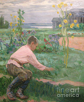 Nikolay Petrovich-Belsky - Boy On The Grass