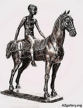 Boy on the horse by Emin Guliyev