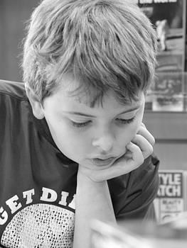 Boy Reading by Jennifer Whiteford